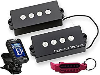 Seymour Duncan SPB-3 P-Bass Guitar Pickup Set with True Tune Tuner, Keychain 11402-06