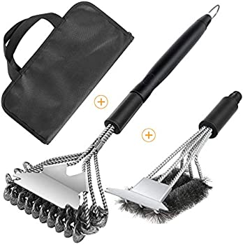 2-Pack Fireor Grill Brush and Scraper