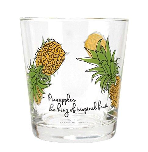 ハワイアン雑貨 グラス ガラスコップ グラスタンブラー ハワイ雑貨 お土産 (パイナップル)
