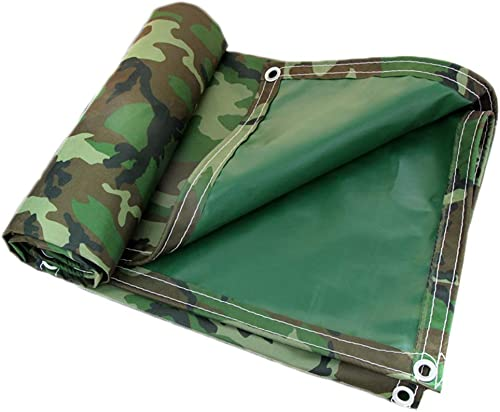 LXLA- Baches de camouflage robustes avec oeillets, bache imperméable épaisse, pour anti-poussière anti-pluie écran solaire - 420g   m2 (taille   6m x 10m)