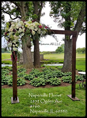 Rustic Wooden Wedding Arch Or Arbor Complete Kit For Indoor Or Outdoor Weddings Stained In Dark Walnut