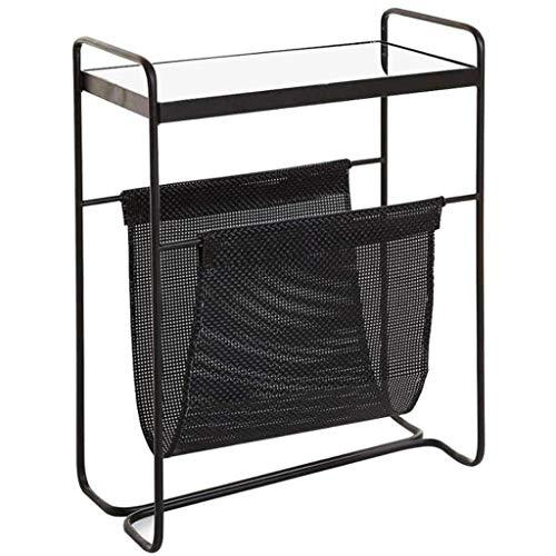 LY88 glazen salontafel eindtafel, multifunctionele opslag voor woonkamer slaapkamer