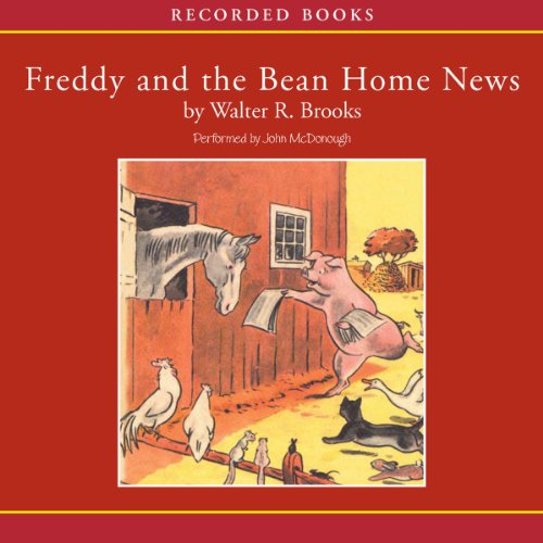 Freddy and the Bean Home News audiobook cover art