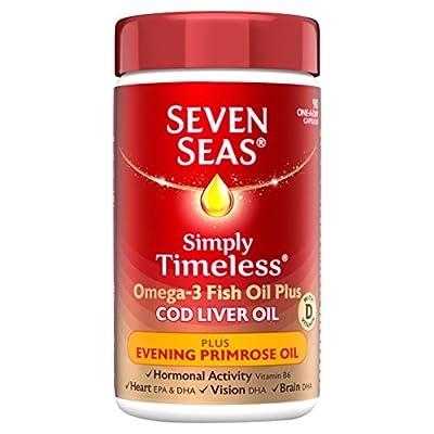 Seven Seas Omega-3 Fish Oil Plus Cod Liver Oil Plus Evening Primrose Oil 90 Capsules