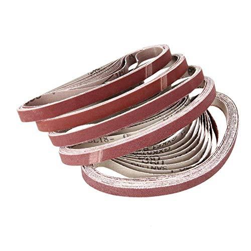 GFHDGTH 10st 15x452mm Schuurband, Dremel Accessoires Grit 60-600 Sander Grinder Belt voor Boorslijpen Polijstgereedschap, 60