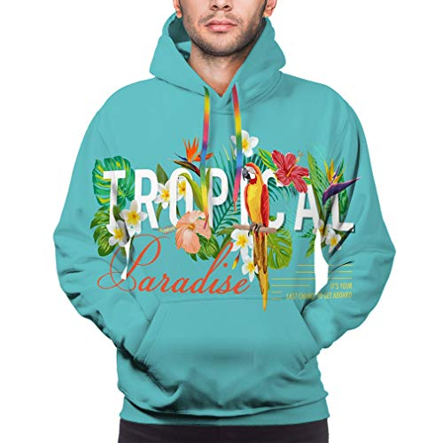 Tropical Bird Graphic Design Flowers Fashion Prints Hoodie for Mens 3D Printed Pullover Sweater Sweatshirt Hoode