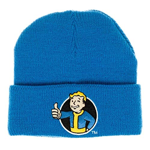 Bioworld Fallout 76 Vault Boy Knit Hat Beanie Blue