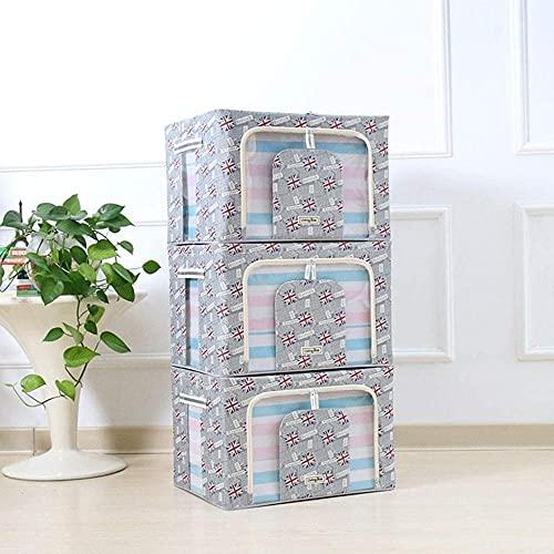 Bolsa de almacenamiento de ropa, grande, 3 unidades, 66 L, plegables, bolsas de almacenamiento para edredones, mantas con asas y ventana (color : Dd)-Bb