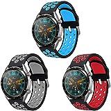 AOTVIRIS Cinturino compatibile con Huawei Watch GT 2 46 mm/Huawei Watch GT Sport/Active/Classic/Fashion/Elegante (42mm) 22 mm, cinturino in silicone per Honor Magic Watch 2/Galaxy Watch 46 mm/Gear S3