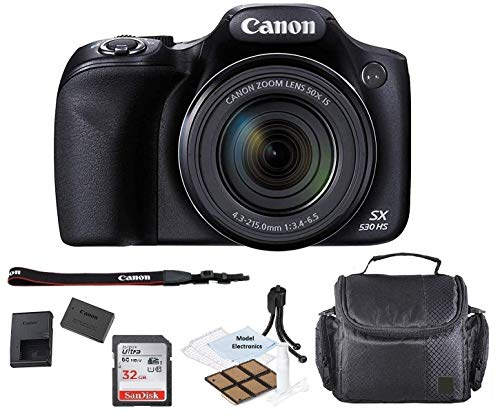 Canon PowerShot SX530 HS Wi-Fi Digital Camera with 32GB Card + Case +Kit