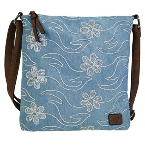 Stefano BERNARDO BOSSI Jeans Tasche Shopper Hobo Bag Schultertasche Umhängetasche Denim verschiedene Modelle (Tasche Blumen)