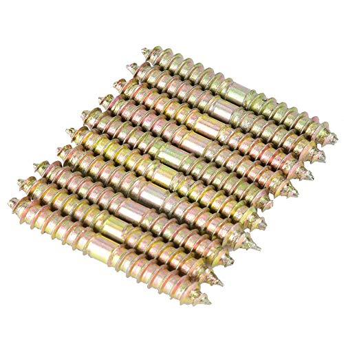 10 stücke 6 * 50mm schraube aufhängung doppelseitige spike selbstschneidende schrauben gewinde zimmerei möbel stecker stangen