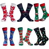 Bircen 6 Paar Weihnachten Socken,Weihnachtssocken für Damen & Herren,Weihnachten Festlicher Baumwolle Socken Super Warm Socken Mix Design EU 40-46