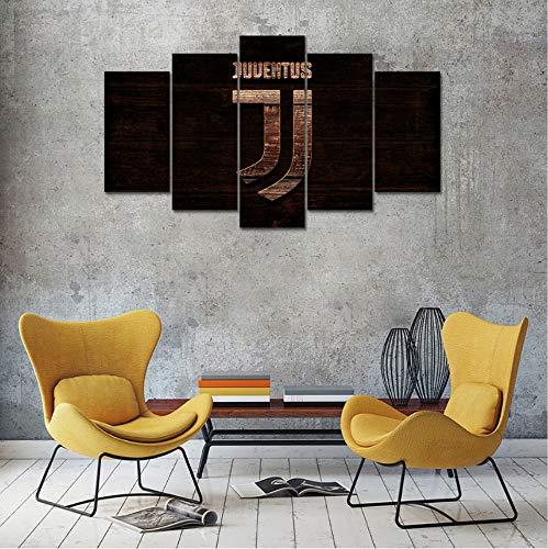 mmbj 5 Pezzi Stampati su Tela Juventus Soccer Poster e Stampe Wall Art  Immagini di Pittura per Soggiorno Decorazioni per la casa 20x30cmx2  20x40cmx2 ...