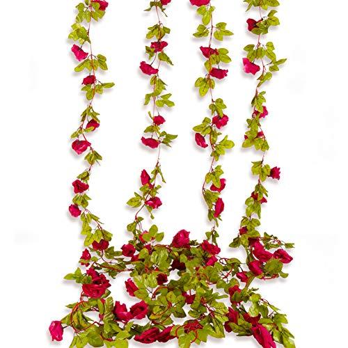 (Kupon DISKON 40%) 4 Pcs Artificial Rose Garlands $ 9.59