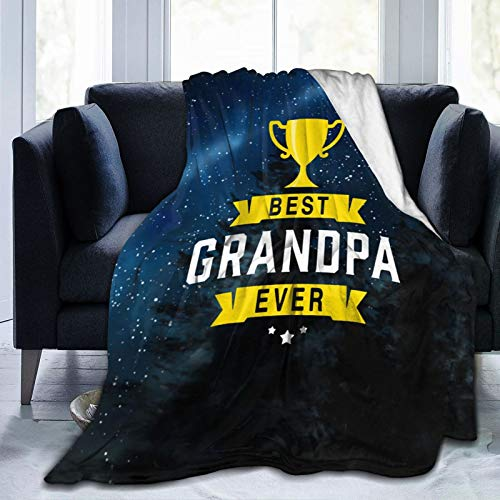 ghyt Best Grandpa Ever Ultra-Soft Micro Fleece Blanket Hotel Throw Blanket Cozy Warm Fuzzy Blanket for Bed Couch Living Room