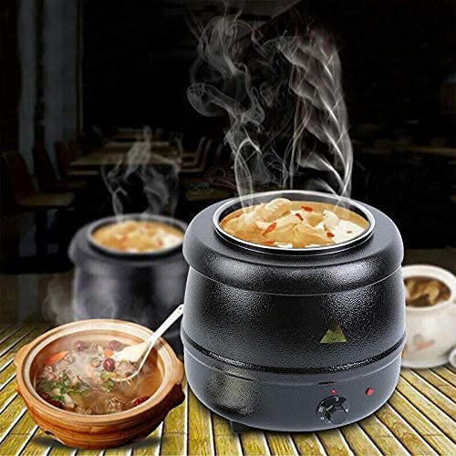 XuanYue Suppentopf 10L Kommerziell Elektrisch Suppenkessel Edelstahl Essen Suppe Suppentöpfe (400W)