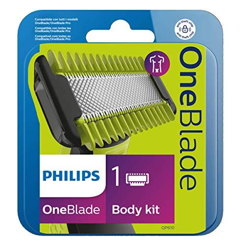 Kit Lâminas para OneBlade Rosto-e-Corpo, Verde Limao/Cinza chumbo e preto- Philips