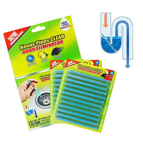DAZHONG Drain Cleaner Sticks Deodorante Drain Strip Non tossico per Cucina Bagno Mantiene scarichi e Tubi Clear And Odor Prevent Clogs (24pcs, Natural)