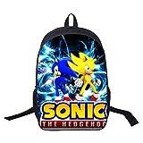 YUNMEI Mochila Escolar Sonic Mochila Sonic de Calidad, Mochilas Escolares, Bolsas de Regalo Sorpresa a la Moda, Hermosas Mochilas Escolares para Estudiantes, Mochila de Viaje para Hombres y Mujeres