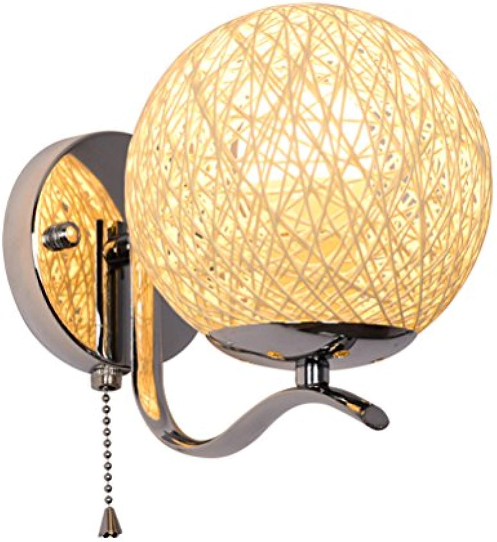 OOFAY Schlafzimmer Nachttisch Wandleuchte Moderne Kreativitt Korridor Dekoration Wandleuchte Mit Zugseil Schalter,1