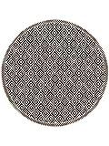 benuta Floordirekt Step Cleo - Alfombra Redonda para Interior y Exterior (diámetro de 120 cm), Color Blanco y Negro