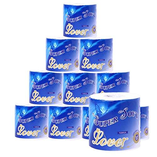 Hainter Toiletpapier, standaard 10 verpakkingen, 3 luiers, hygiënisch papier, 3-laags, voor eettafel, keuken thuis