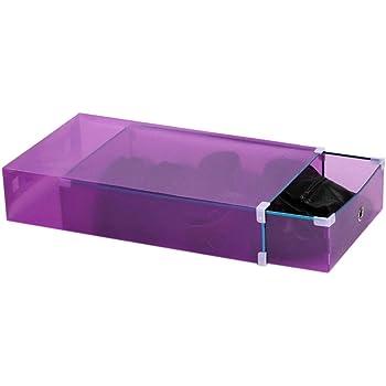 Inicio Botas Transparentes de Plástico Cajas de Almacenamiento Caja de Cajones Apilables Armario Armarios de Zapatos Organizador de Zapatos (20.87 * 11.81 * 4.33 Pulgadas): Amazon.es: Hogar
