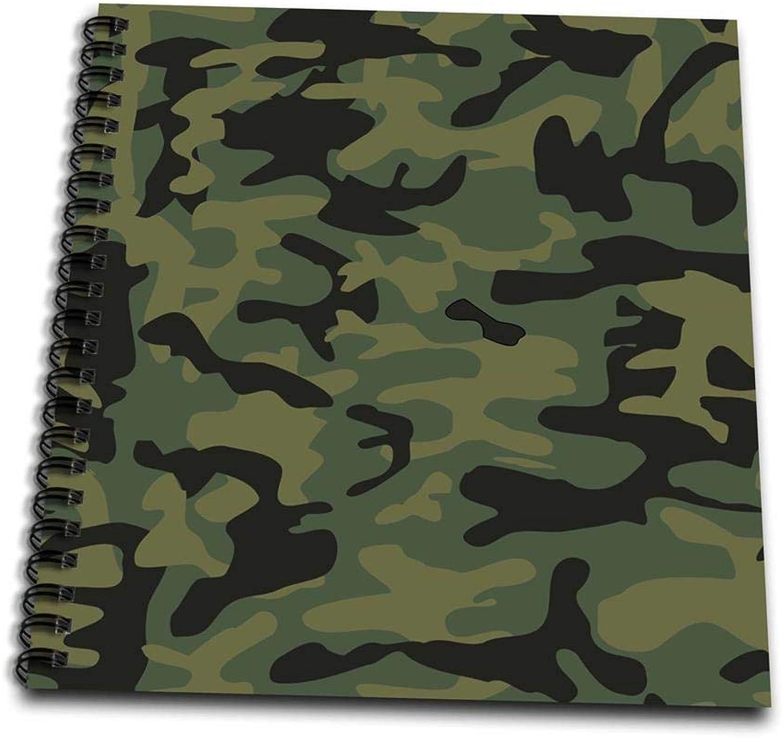 3dRosa DB 157596 _ 2 Dark Grün Grün Grün Camo Print Jagd Hunter oder Army Soldier Uniform Stil Camouflage Woodland Muster Memory Book, 12 von 12 Zoll B00EKL0ZZU | Tragen-wider  446729