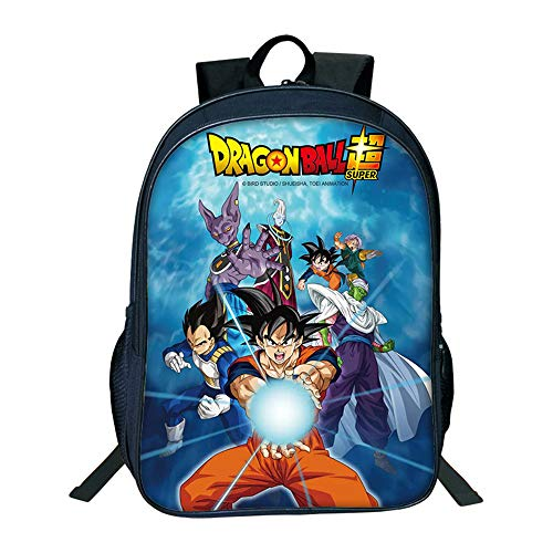 Mochila Dragon Ball, Mochila Dragon Ball Escolar Niños Primaria Mochilas y Bolsas Escolares Niñas 3D Impresión Juvenil Bolsa Infantil Series de Television Regalos (1)