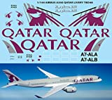 1/144 Airbus A350 Qatar Livery for Revell Decals TB Decal TBD48