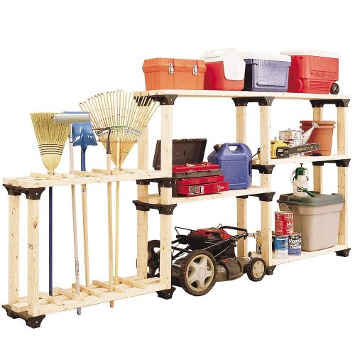 2x4basics 90124 Custom Shelving and Storage System Shelflinks, Black, 6 Pack