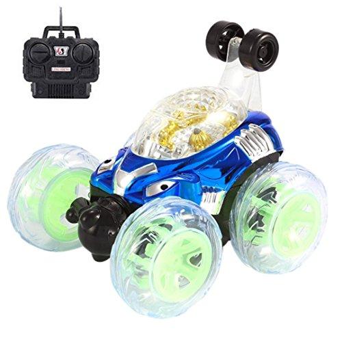 Flash Light Musique des effets spéciaux télécommande de voiture, Mamum et rotatifs à 360 ° Flips avec couleur Flash et de la musique pour enfants Camion de télécommande Taille unique bleu