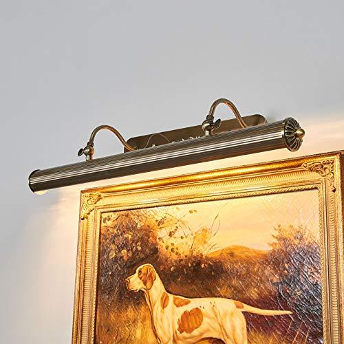 Lindby Wandleuchte, Wandlampe Innen 'Joely' dimmbar (Retro, Vintage, Antik) in Bronze aus Metall u.a. für Wohnzimmer & Esszimmer (4 flammig, E14, A++) - Bilderleuchte, Wandstrahler, Wandbeleuchtung