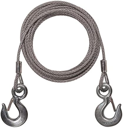 STARVIN Premium 4M Long || Super Strong Emergency Heavy Duty || Car Tow Cable || 3 Ton Towing Strap Rope || with Dual Forged Hooks || B-01