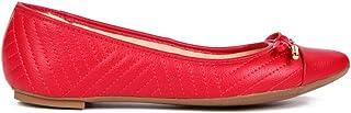 Sapatilha Comfort Bico Fino Vermelho