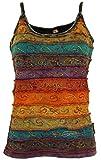 Guru-Shop Stonewash Goa Top, Damen, Regenbogen 3, Baumwolle, Size:M/L (40), Tops & T-Shirts Alternative Bekleidung