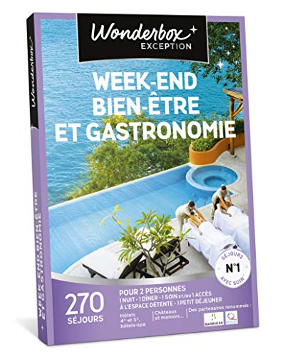 Wonderbox - Coffret cadeau - WEEK-END BIEN-ÊTRE ET GASTRONOMIE – 270 weekends gourmands