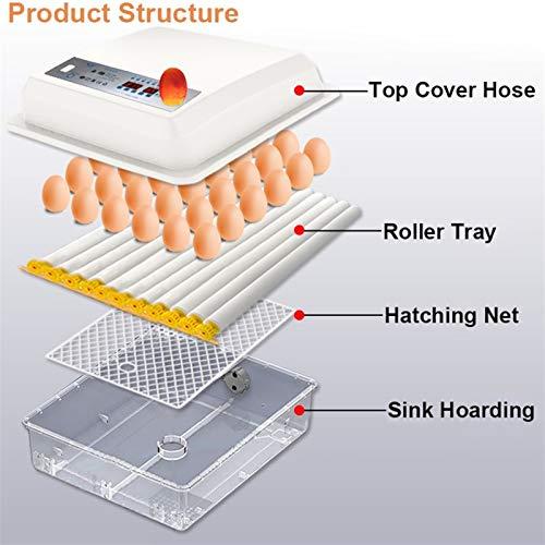 Jlxl Brutmaschine Vollautomatisch Hühner Eier Brutgerät Inkubator Brutkasten Brutautomat Mit Temperaturregelung Hühnerei Für Ente Gans Taube Wachtel (Size : 16egg)