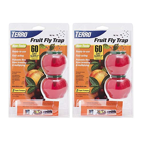 Terro Fruit Fly Trap - 4 Pack (2 Packages Containing 2 Traps Each)