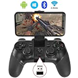KYAMRC 2.4G Wireless Mobile Game Controller Bluetooth Gaming Gamepad Joystick for Android Phone/ PC Windows/ Tablet/ Smart TV/ TV Box/ PS3 - Android