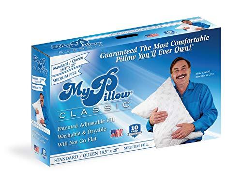 MyPillow Classic Pillow (Standard/Queen, White [Medium])