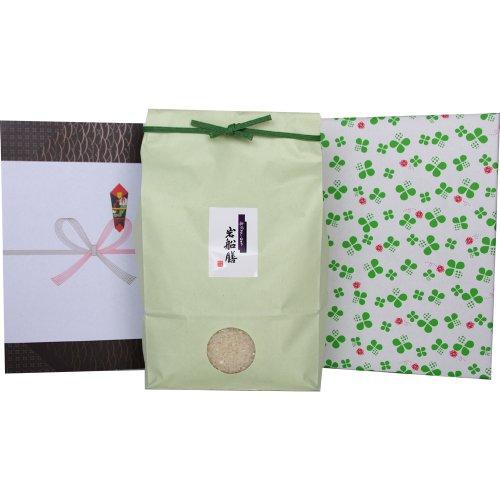 [夏ギフト]新潟県産コシヒカリ 5キロ[米袋:グリーン 包装紙:クローバー]
