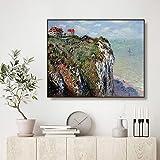 Cliff Dieppe, 1882 Monet Wand Bild Poster Drucken Leinwand Malerei Kalligraphie Dekor Bild für Wohnzimmer Home Decor Rahmenlose dekorative Leinwand Malerei P68 30x40cm