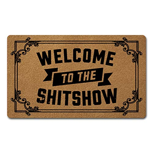Welcome Door Mats for Home Decor (18 x 30 inch) Funny Mats with Anti-Slip Rubber Back Kitchen Rugs...