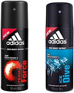 Adidas Amazeddeal Team Force Ice Dive Deo Combo (Pack Of 2)