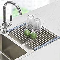 Seropy 17.8 Inch x11.8 Inch Roll Up Dish Drying Rack for Kitchen Sink Counter