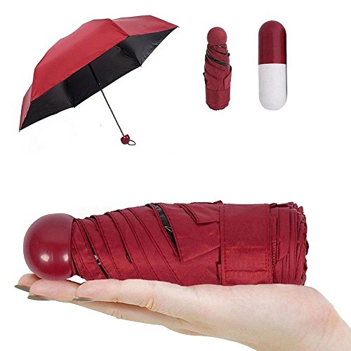 Pawaca Ultra Luces y Pequeñas Viajar Anti-UV Mini Plegable Paraguas con la...