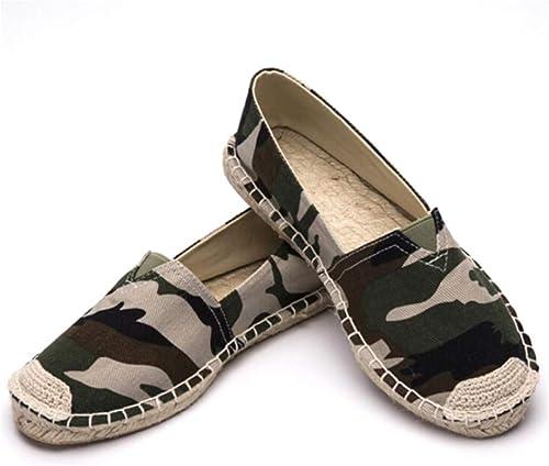 YOPAIYA Les Femmes ApparteHommests Les Chaussures Printemps été été été pêcheur Femelle Camouflage brodé Toile Chaussures Femme au Volant 4d6