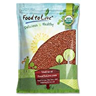 Organic Brown Flax Seeds, 5 Pounds — Whole Flaxseeds, Non-GMO, Kosher, Raw, Dried, Bulk